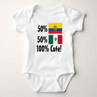 50% Equadorian 50% Mexican 100% Cute Baby Bodysuit