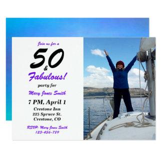 50 & Fabulous 50th Birthday photo Invitation