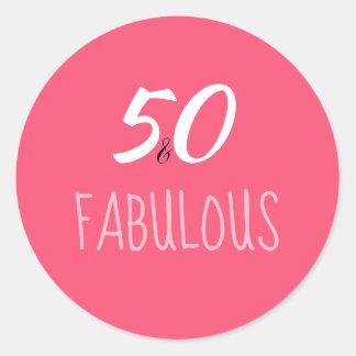 50 & Fabulous 50th Birthday Sticker