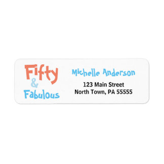 50 & Fabulous Birthday Address Label