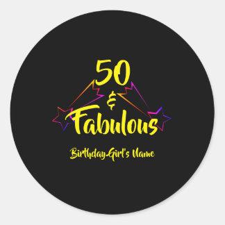 50 & Fabulous - Classic Round Sticker