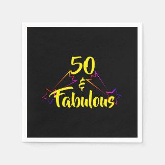 50 & Fabulous - Disposable Napkin