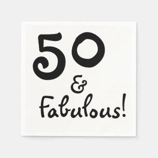 50 & Fabulous Party Paper Napkins Disposable Napkin