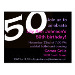 50 Fiftieth Birthday Party Post Card Invitation