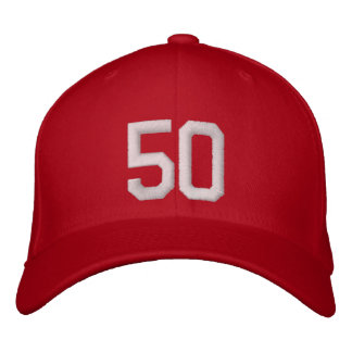 50 Fifty Embroidered Hat
