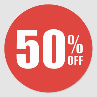 50% Fifty Percent OFF Discount Sale Sticker
