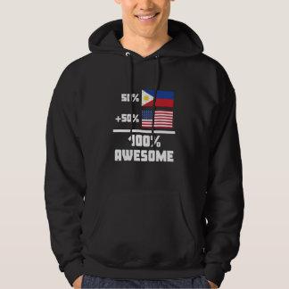 50% Filipino 50% American 100% Awesome Hoodie