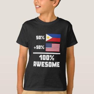 50% Filipino 50% American 100% Awesome T-Shirt