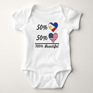 50% Filipino 50% American 100% Beautiful Baby Bodysuit