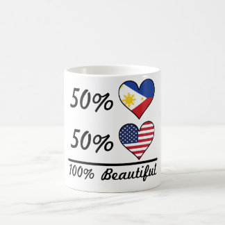 50% Filipino 50% American 100% Beautiful Coffee Mug