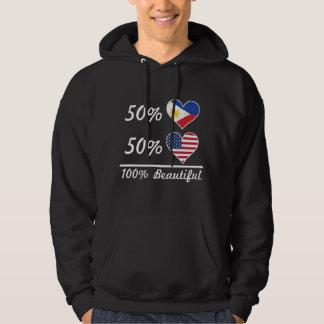 50% Filipino 50% American 100% Beautiful Hoodie