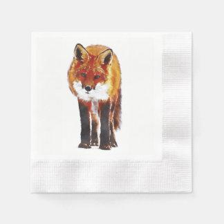 50 fox paper napkins, woodland dining linen paper napkin