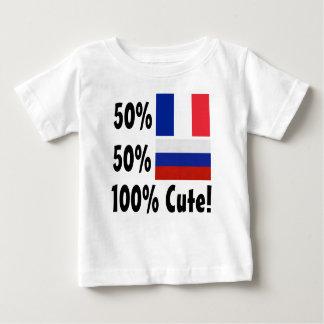 50% French 50% Russian 100% Cute Baby T-Shirt