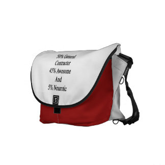 50 General Contractor 45 Awesome And 5 Neurotic Messenger Bag