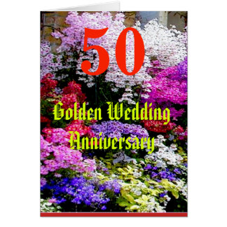 50 Golden Wedding Anniversary with a song Card