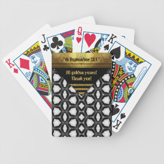 50 golden years! Thank you! Bicycle Playing Cards