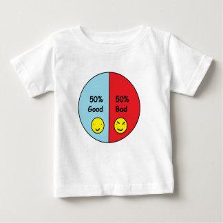 50% Good and 50% Bad Pie Chart Baby T-Shirt