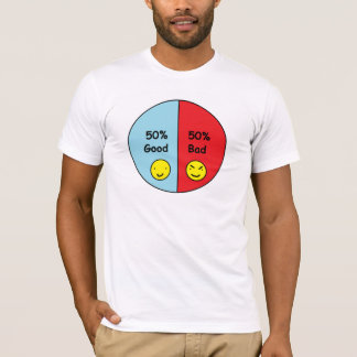 50% Good and 50% Bad Pie Chart T-Shirt