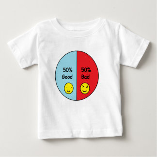50% Good and 50% Bad Pie Chart Tshirt