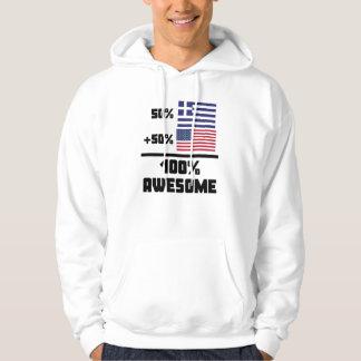 50% Greek 50% American 100% Awesome Hoodie
