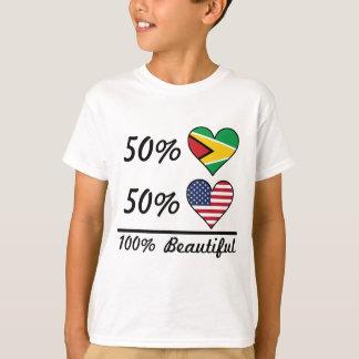 50% Guyanese 50% American 100% Beautiful T-Shirt