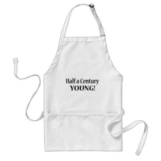 50-Half A Century Young Adult Apron