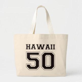 50 Hawaii - Black Jumbo Tote Bag