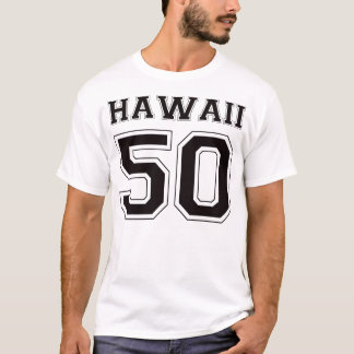 50 Hawaii - Black T-Shirt
