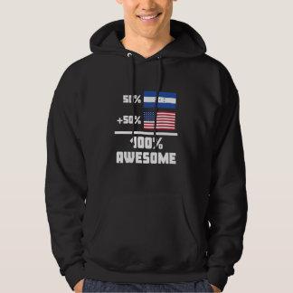 50% Honduran 50% American 100% Awesome Hoodie