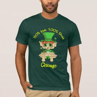 50% irish 100 % drunk chicago T-Shirt