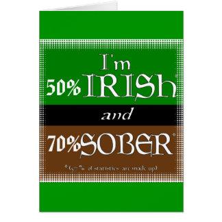 50% Irish , 70% Sober Card