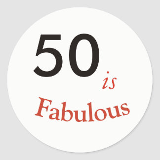 50 is Fabulous 50th Birthday sticker