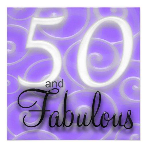 50 is Fabulous Birthday Invitation