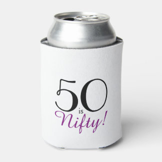 50 is Nifty! 50th Birthday Gift Can Cooler