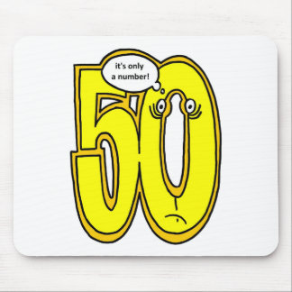 50, it only a number, portrait mouse pad