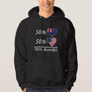 50% Kiwi 50% American 100% Beautiful Hoodie