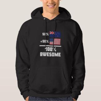 50% Kiwi New Zealand 50% American 100% Awesome Hoodie