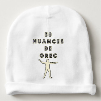 50 NUANCES OF GREEK - Word games - François City Baby Beanie
