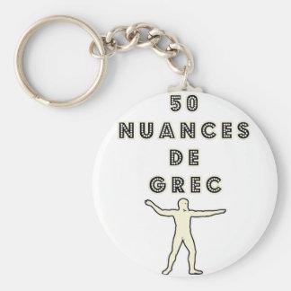 50 NUANCES OF GREEK - Word games - François City Key Ring