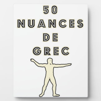 50 NUANCES OF GREEK - Word games - François City Plaque