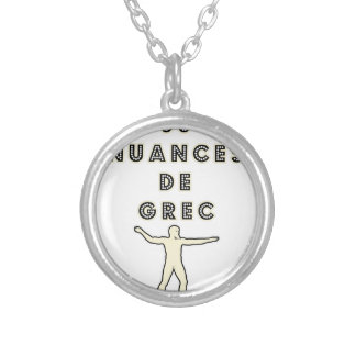 50 NUANCES OF GREEK - Word games - François City Silver Plated Necklace