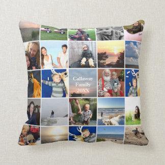 50 of Your Instagram Photos Here White Frame Throw Pillow