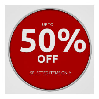 50% off poster