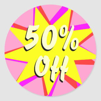 50 Off Retail Sale Stickers