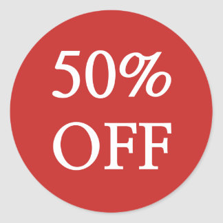 50% OFF Sale Stickers