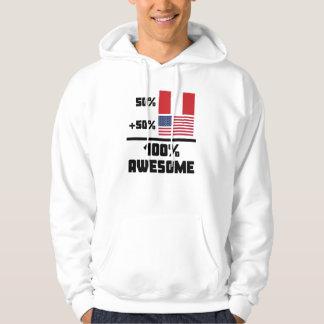 50% Peruvian 50% American 100% Awesome Hoodie