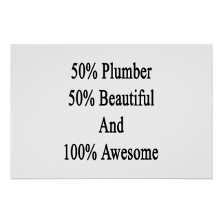 50 Plumber 50 Beautiful And 100 Awesome Poster