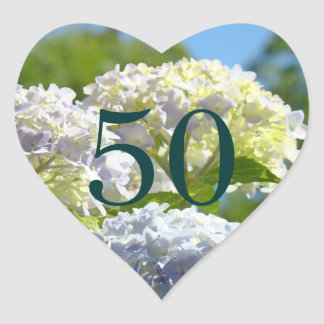 50 postage stamps Number Fifty Birthday stickers
