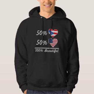 50% Puerto Rican 50% American 100% Beautiful Hoodie