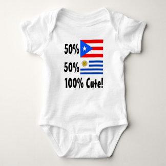 50% Puerto Rican 50% Uruguayan 100% Cute Baby Bodysuit